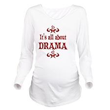 2-DRAMA Long Sleeve Maternity T-Shirt