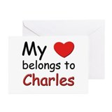 My heart belongs to charles Greeting Cards (Packag