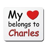 My heart belongs to charles Mousepad