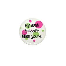 myauntiscoolerthanyours_pinkcircles Mini Button