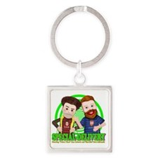 Special_Delivery_Puppets_01 Square Keychain