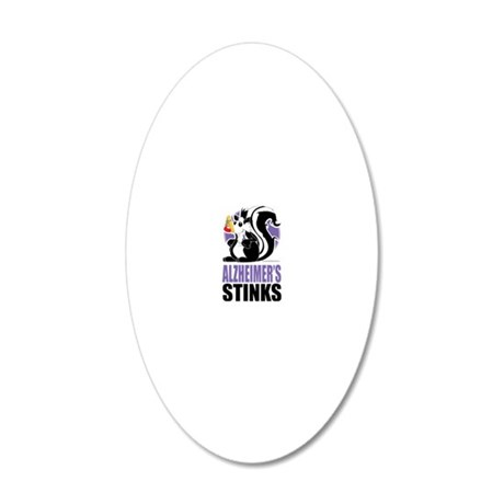 Alzheimers-Stinks 20x12 Oval Wall Decal