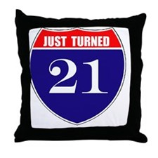 is21birth Throw Pillow