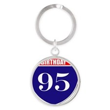 is95birth Round Keychain