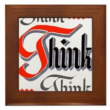 aa_think_think_think Framed Tile