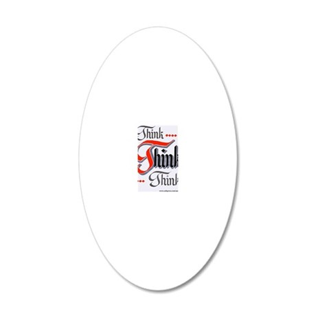 aa_think_think_think 20x12 Oval Wall Decal