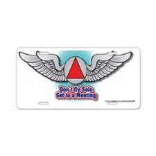 wings-web-site Aluminum License Plate