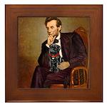 Lincoln-Black Pug Framed Tile