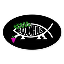 Bacchus Fish Oval Decal