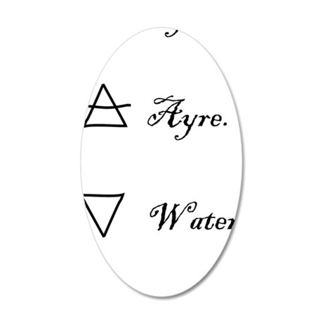2-elements 35x21 Oval Wall Decal