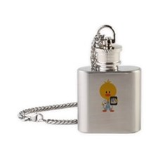 3-RadiologyChickDkT Flask Necklace