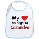 My heart belongs to casandra Bib