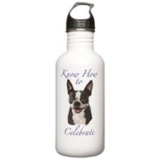 Boston Terrier Birthda Water Bottle