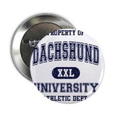 "Dachshund-University 2.25"" Button"