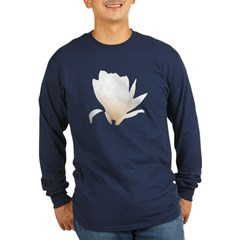 White Lily Long Sleeve Dark T-Shirt