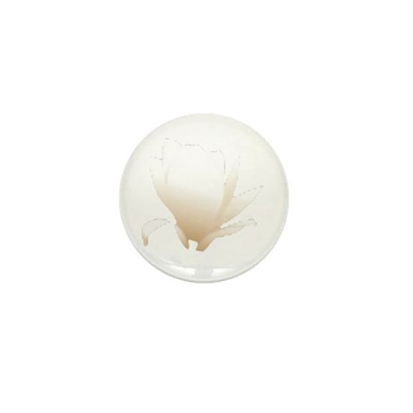 White Lily Mini Button