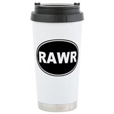 Rawr oval-black Ceramic Travel Mug