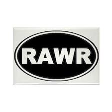 Rawr oval-black Rectangle Magnet