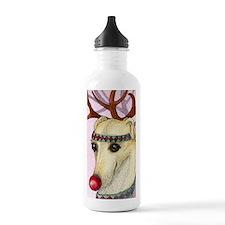 Red nosed reindog Water Bottle
