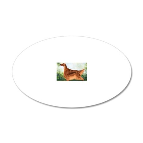 Irish Setter 3 by Dawn Secor 20x12 Oval Wall Decal