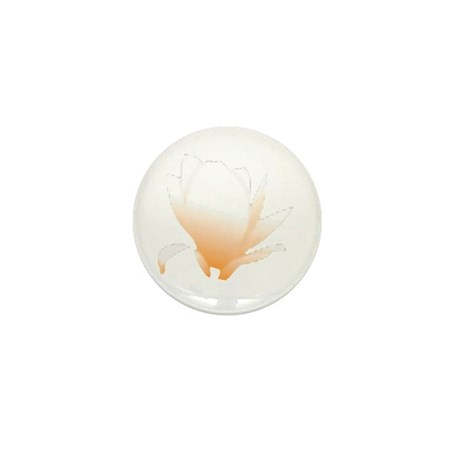 Pastel Orange Bloom Mini Button