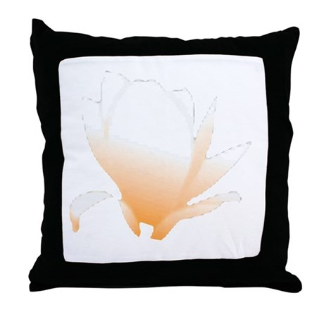 Pastel Orange Bloom Throw Pillow