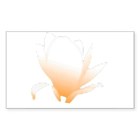 Pastel Orange Bloom Rectangle Sticker