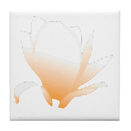 Pastel Orange Bloom Tile Coaster