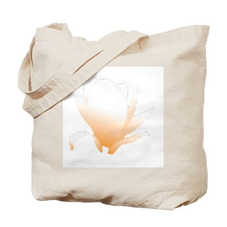 Pastel Orange Bloom Tote Bag