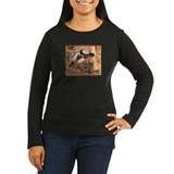 Sport A Woody Women's Long Sleeve Brown T-Shirt