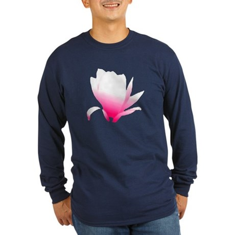 Pink Blossum Long Sleeve Dark T-Shirt