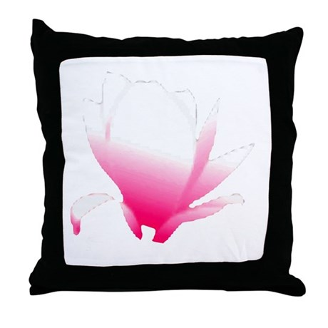 Pink Blossum Throw Pillow