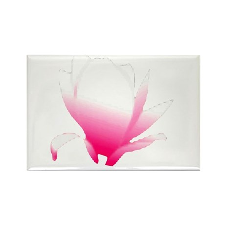 Pink Blossum Rectangle Magnet (100 pack)