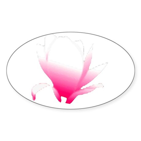 Pink Blossum Oval Sticker