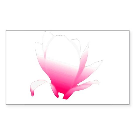 Pink Blossum Rectangle Sticker