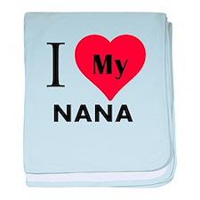 I Heart My Nana baby blanket