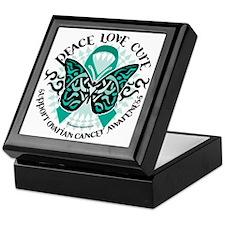 Ovarian-Cancer-Butterfly-Tribal-2 Keepsake Box