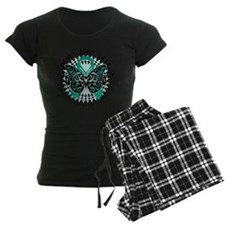 Ovarian-Cancer-Butterfly-Tri Pajamas