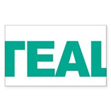 Think-TEAL-Ovarian-Cancer-blk Bumper Stickers