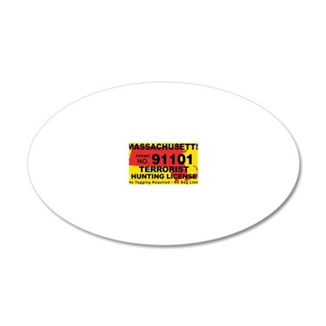 TH-License-MA 20x12 Oval Wall Decal