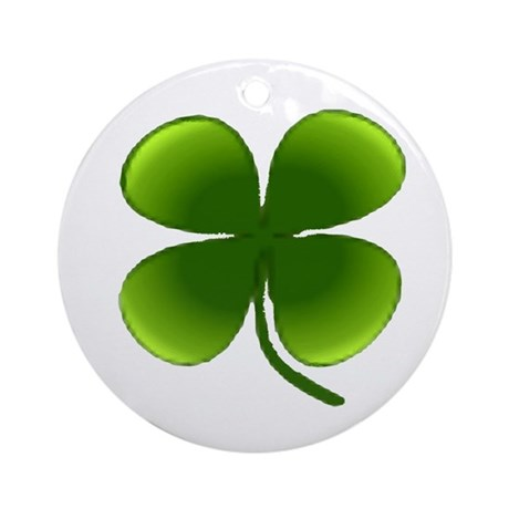 Shamrock Ornament (Round)
