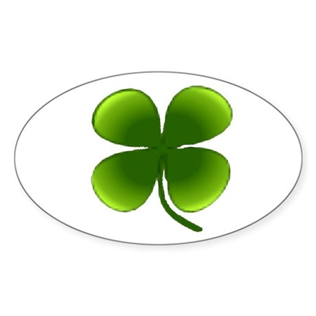Shamrock Oval Sticker