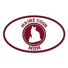 Maine Coon Mom Oval Decal