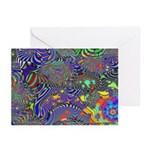 Fractal C~13 Greeting Cards (10 Pack)