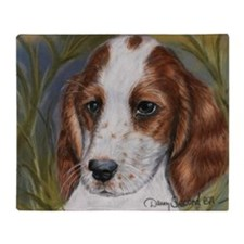 Red and White Setter Throw Blanket