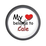 My heart belongs to cale Wall Clock