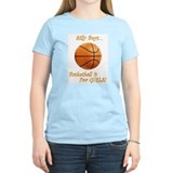 Silly Boys, Basketball is for Girls Womens Pink T