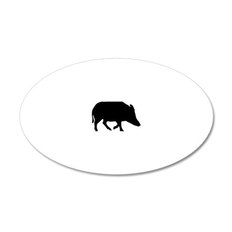 wild_pig 20x12 Oval Wall Decal