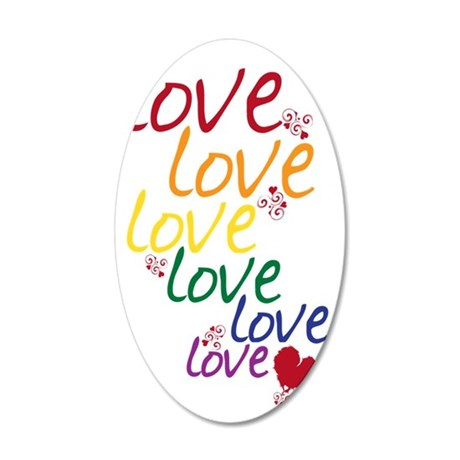 love is love2 35x21 Oval Wall Decal