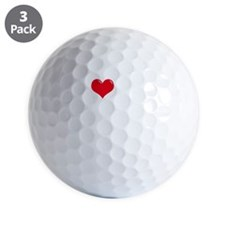 I-Love-My-Schipperke-dark Golf Ball